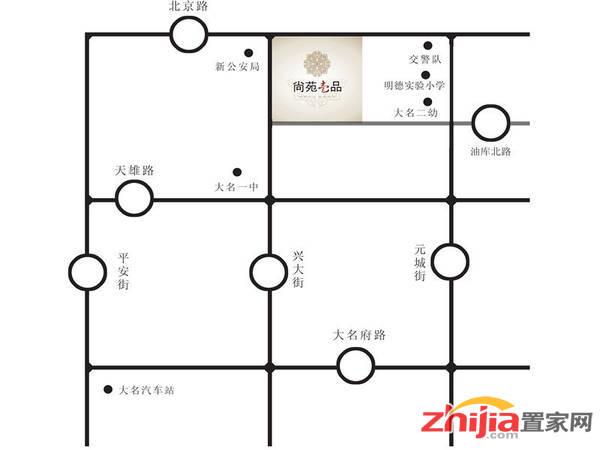 尚苑壹品 区域位置图