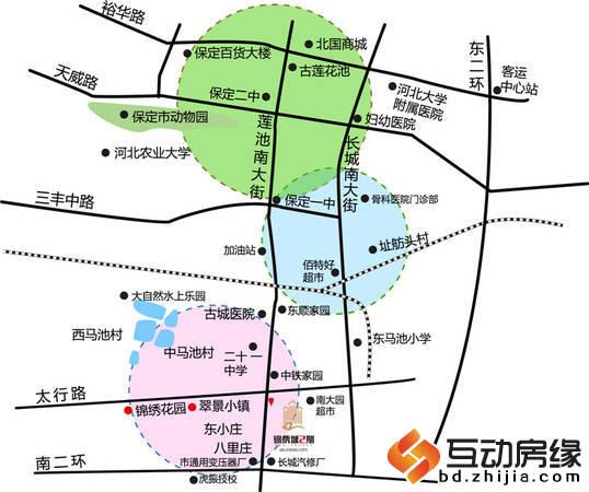 锦绣城二期 区位图