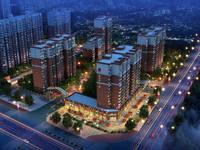 锦绣城二期 夜景鸟瞰图