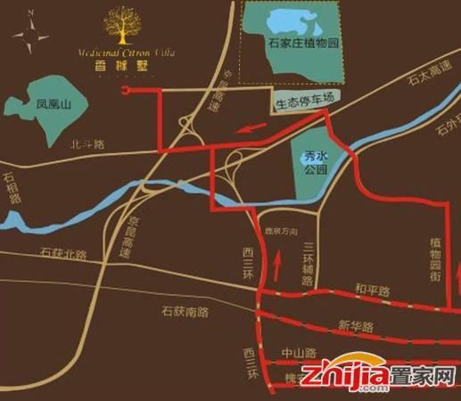 香橼墅 交通图