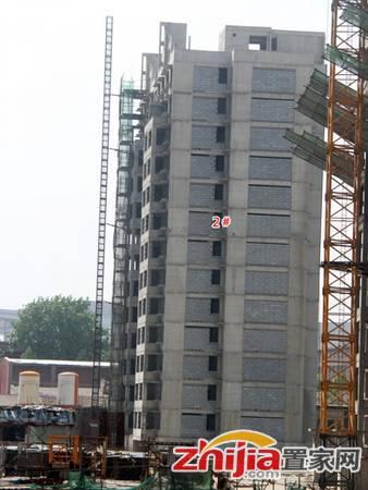 卓冠·百变公寓 2#楼内部二次结构基本已经完成