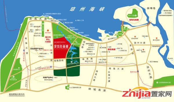 绿地•中央文化城 区域图
