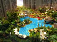绿地•中央文化城 泳池效果图