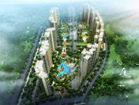 绿地•中央文化城 园林透视图