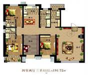 河畔曙光4室2厅3卫户型图