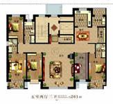 河畔曙光5室2厅3卫户型图