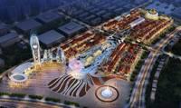 華中國宅華園 繁華的商業夜景