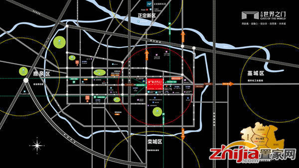 天山世界之门风情商街 交通图