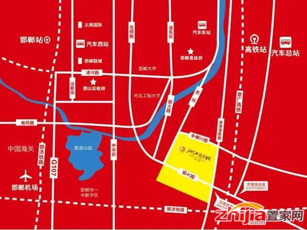邯郸浙江商贸城 区位图