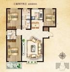 領秀紫晶城3室2廳2衛戶型圖
