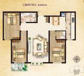 领秀紫晶城3室2厅2卫户型图