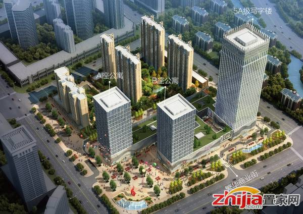 河北国际商会广场 鸟瞰图