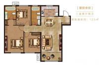 未来紫金府3室2厅2卫户型图