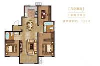 未來紫金府3室2廳2衛戶型圖