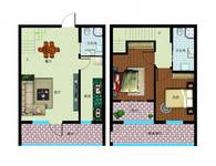 鑫城2室2厅2卫户型图