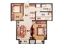 龙仕·公园里2室2厅1卫户型图