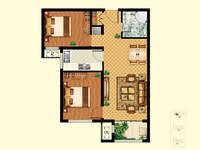 富丽华庭2室2厅1卫户型图