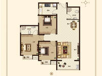 锦绣江南3室2厅2卫户型图