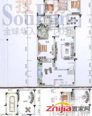 天山水榭花都 4000元 4室3厅3卫 精装修,封闭小区,有