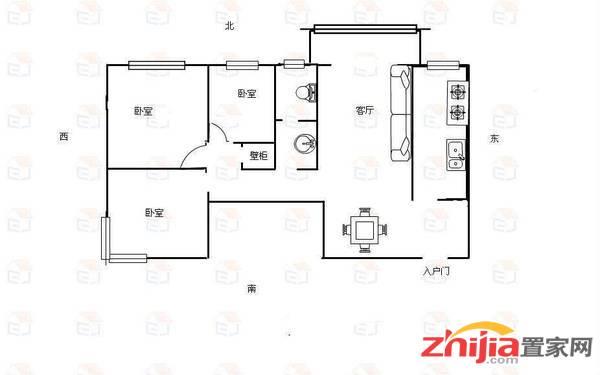 桥西 尹泰东苑 93万 3室2厅1卫 精装,稀缺超低价!