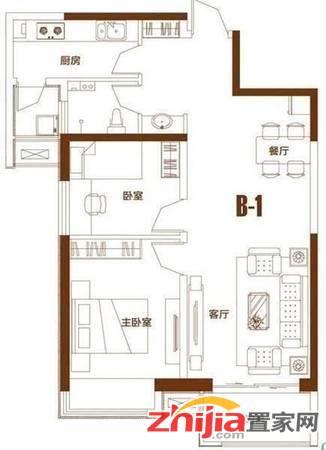 万达广场B1南区 2室 精装 拎包入住