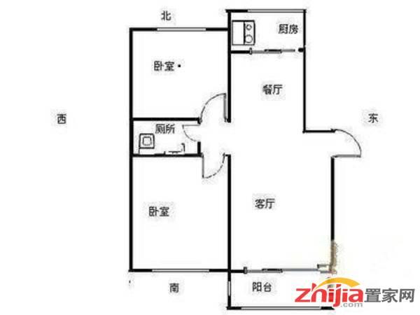 桥西 鑫泽苑 80万 2室2厅1卫 精装 低楼层