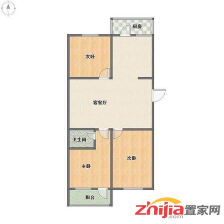 河北日报社宿舍 1600元 3室2厅1卫 中装拎包入住