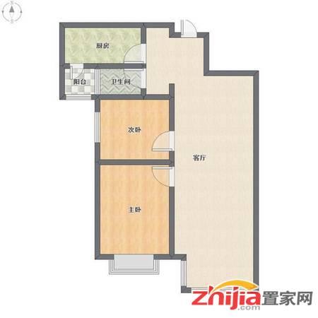 急租万达广场B1南区  2室2厅1卫 精装,家具家电齐全 实