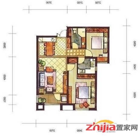 空中花园附近 恒大名都 2室2厅 拎包入住 卓达商圈