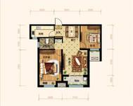 润江•煦园2室2厅1卫户型图