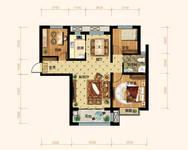 润江•煦园3室2厅2卫户型图