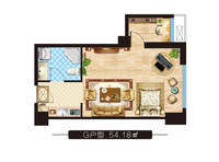 上东领寓1室1厅1卫户型图