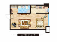 上东领寓1室1卫户型图