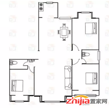 碧景园 3室2厅2卫 171m² 租金980元/月