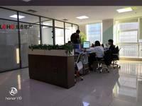 裕华区万达旁宝翠商务300平精装开间玻璃隔断带全部办公家