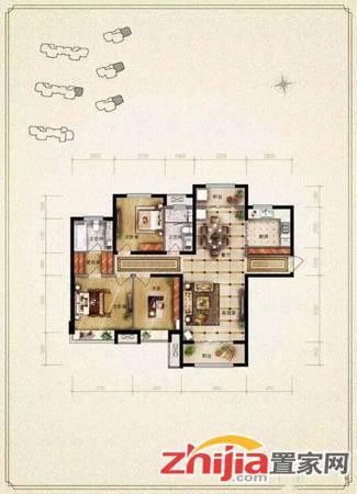 保利花园精装三居,全新装修,拎包入住,双阳卧室,全明户型