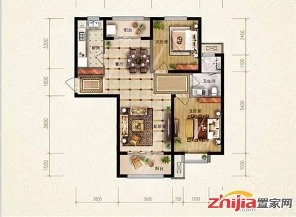 保利花园,精装,送家具家电,通厅通卧,急售。可改成三室