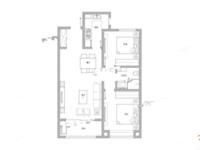国赫天玺2室2厅1卫户型图