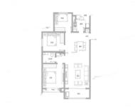 国赫天玺3室2厅1卫户型图