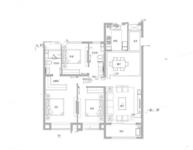 国赫天玺3室2厅2卫户型图