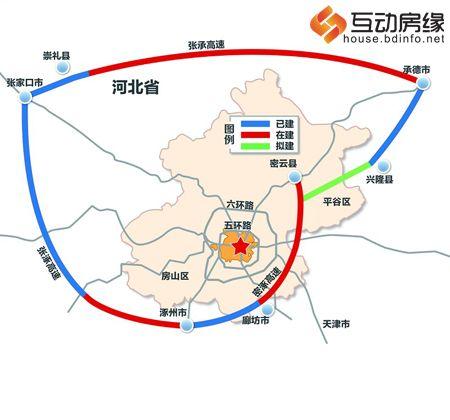 北京大外环(京7环)规划图首度曝光 1/3已建成