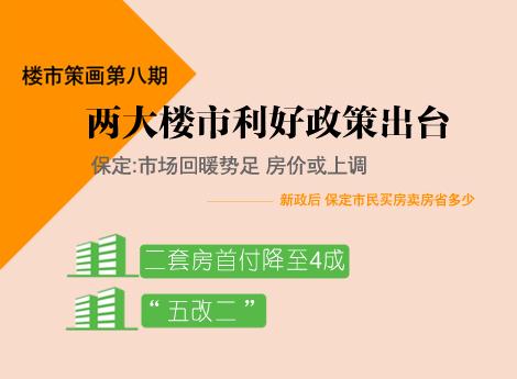 楼市策画第八期——两大楼市利好政策出台 保定:市场回暖势足 房价或上调