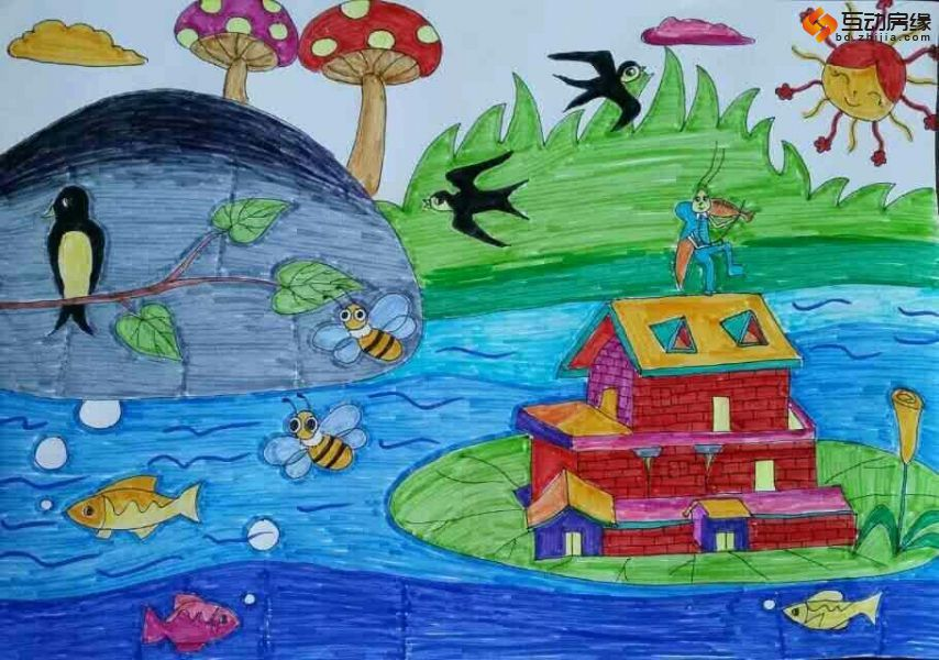 小学生画画大全_小学生春天图画大全 小学生眼中的春天图画春天的