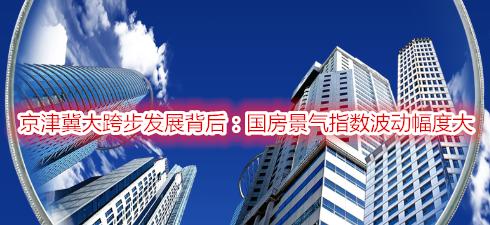 京津冀大跨步发展背后:国房景气指数波动幅度大