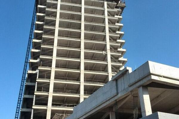 九州商务大厦 楼盘二次结构已完毕年底交房
