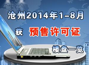 沧州2014年1-8月份获预售证楼盘一览
