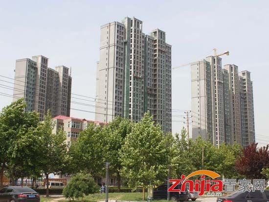 荣盛阿尔卡迪亚阳光苑3#、5#楼已盖至20层 其余安装保温层