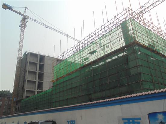 融通国际南部楼体已封顶 北部楼体已盖至2层