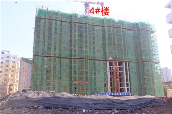 爱佳斯嘉4#楼已经盖至17层 1#、2#楼已经出地面6层