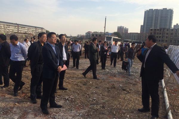 邯郸市领导现场调研和家大院重点工程项目